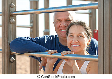 Healthy mature couple - Smiling senior couple together...