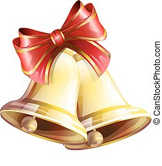 Christmas bells - vector, Christmas, bells