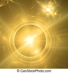 Abstract background. Yellow - gold palette. Raster fractal...