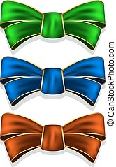 Collection bows - Vector illustration of collection bow in 3...
