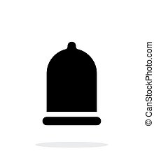 Condom XXL size icon on white background. Vector...
