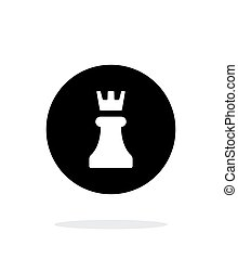 Chess Rook simple icon on white background Vector...