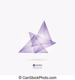 Abstract background with triangles and geometric shapes. For...