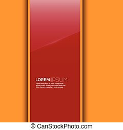 Red glossy blank with a background for advertising,...