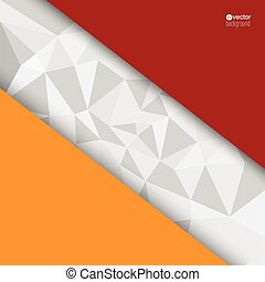 Abstract background with triangles and polygonal with pieces...