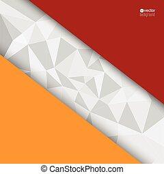 Extracto, Plano de fondo, con, triángulos, y,...