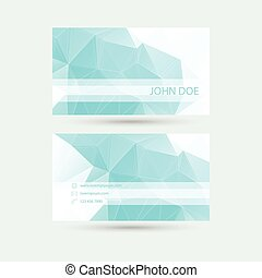 Modern business card template with polygonal mesh vector...