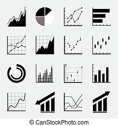 Set infographic Icons Miniatures Vector for various design...