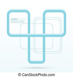 Modern abstract design with woven blue stripe. Template for...