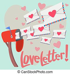 Love Letter! - A lot of Love letter show up from mailbox...