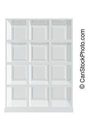 White piece of furniture shelf