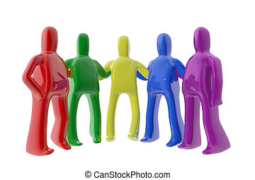 Group of colorful figures