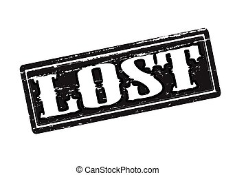 Lost - Rubber stamp with word lost inside, vector...