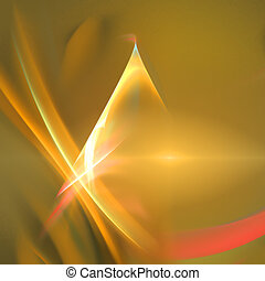 Abstract background. Gold yellow palette. Raster fractal...