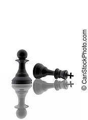 Chess pawn victory over the king