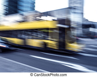 potsdamer platz - a bus and traffic at potsdamer platz in...