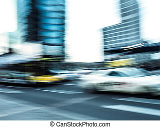 traffic at potsdamer platz - traffic with bus and cab at...