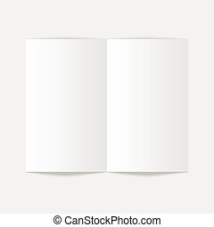 Open magazine - White stationery blank twofold paper...