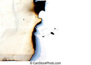 Dark Grunge Burnt Paper Edge