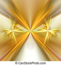 Abstract background. Yellow - gray palette. Raster fractal...