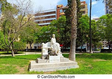 Statue in park of Valencia -for Ramon Gomez Ferrer. - Statue...