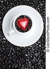 cuore, caffè, Tazza
