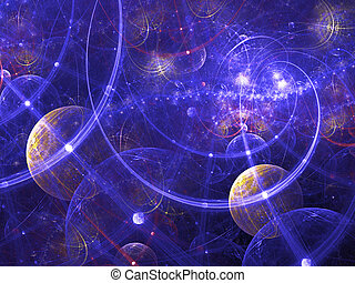 Digitally rendered abstract fractal galaxy image. Good as...