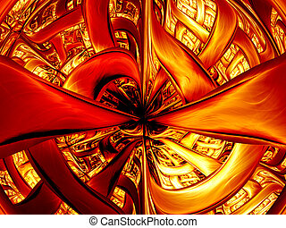 Abstract digitally rendered inferno gate Good as background...