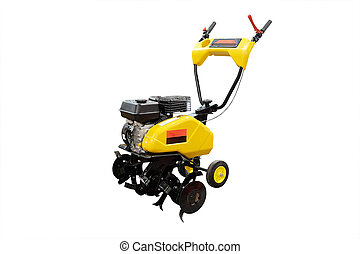 snow-removal machine under the white background