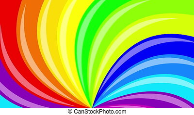 Colorful background rainbow that rotating spiral. 4k...