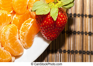 Mandarin and Strawberry