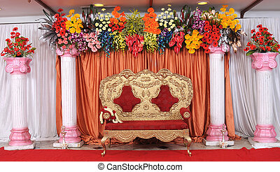 Stage at Indian Wedding