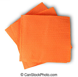 Some Blank Orange Paper Serviettes