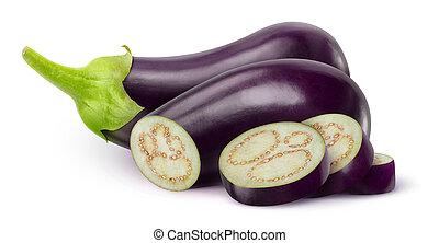Eggplants - Fresh eggplants isolated on white
