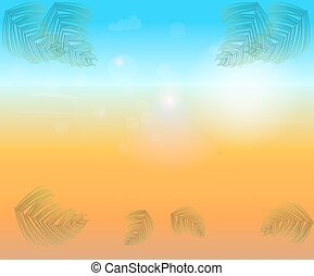 Abstract bright sunny background