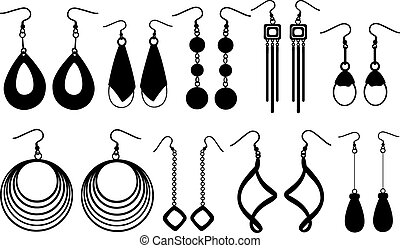 earrings - set of different earrings