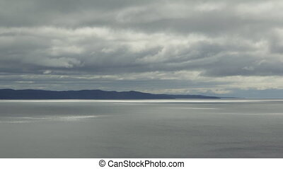 Lake Superior shoreline. Time lapse - North shore of Lake...