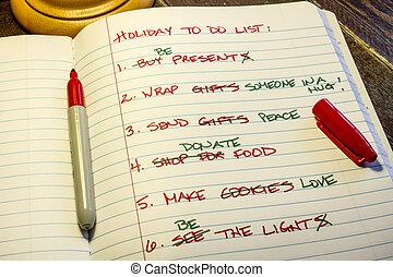 Holiday To Do List - Holiday to do list Holiday to do list...