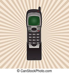 retro phone on a white background