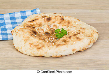 Armenian bread - on the wood background