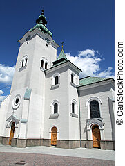 Roman catholic church at town Ruzomberok - Slovakia