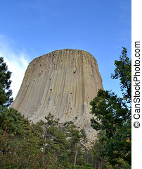 Devils Tower - National Monument - Portrait of the monolith...