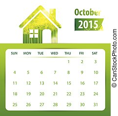 Calendar for 2015 Vector EPS10