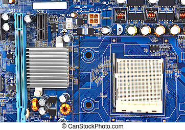 Computer motherboard - Printed computer motherboard with...