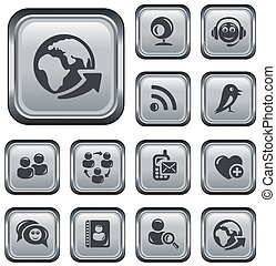 Social network buttons - Social network button set
