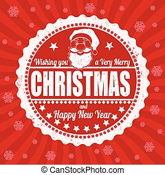Merry Christmas vintage lettering design greeting card with...