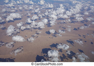 flying above the desert