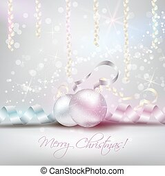 Christmas background with ribbons