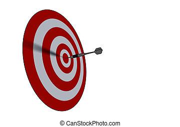 bullseye - business concept/succes - bullseye - business...