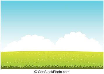 Clean field with flower - Beautiful landscape of the year...